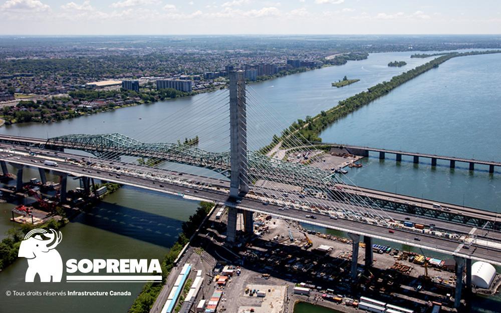 Une étude de cas pour les ingénieurs actuels ou en devenir: Notre partenaire SOPREMA se démarque lors de la construction du nouveau pont Samuel-de-Champlain